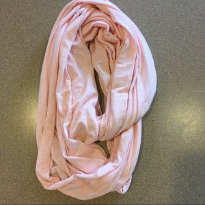 Lucy pink striped infinity scarf
